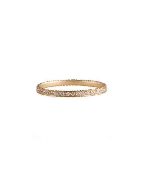 Hello Pave Ring From Neiman by Wolf Thin Pave White Band Ring Neiman
