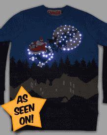 unisex retro led lightup sleigh ride christmas jumper from