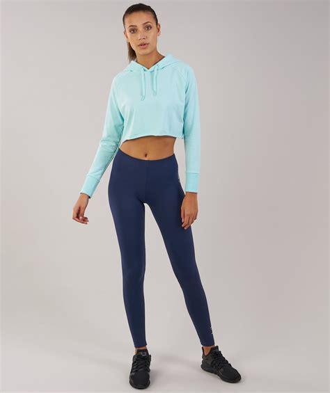 gymshark cropped hoodie pale turquoise