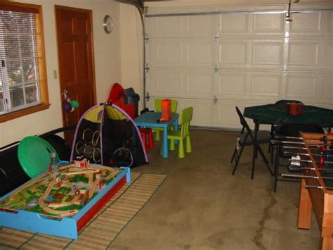 temporary room in garage garage playroom click on