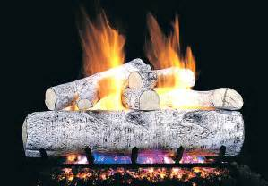 wg4 24 peterson real fyre 24 inch white birch gas logs