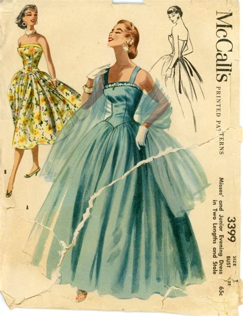 pattern night dress 314 best 1950 s vintage dress patterns images on pinterest