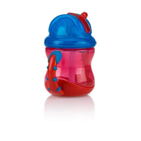 Nuby 360 Grip N Sip 2 In 1 Combo Spout Straw Sippy Cup 240ml 57 nuby baby flip n sip two easy grip handle silicone straw