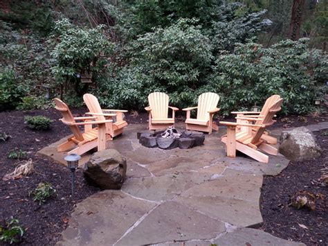 rustic gas fire pit mercer island wa sublime garden design sublime garden design