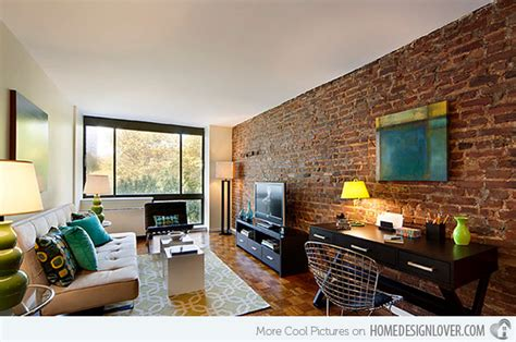 Living Room Brick Accent Wall Brick Wall Accents In 15 Living Room Designs Fox Home Design
