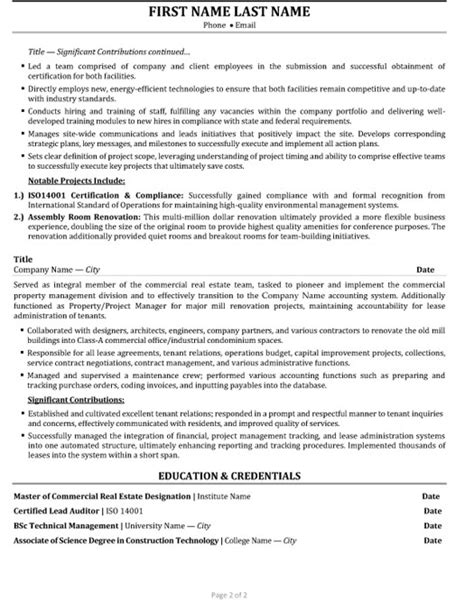 Resume Real Estate Marketing Manager Senior Account Manager Resume Sle Template