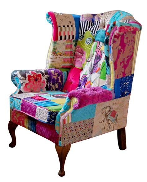 Patchwork Chair For Sale - patchwork chair for sale fulham mad hatter wing