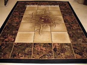 Deer Area Rugs 8x11 Lodge Cabin Forest Camo Buck Deer Antler Camouflage Decor Area Rug Ebay