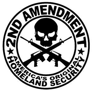 Bear Wall Stickers 2nd amendment americas original homeland security vinyl