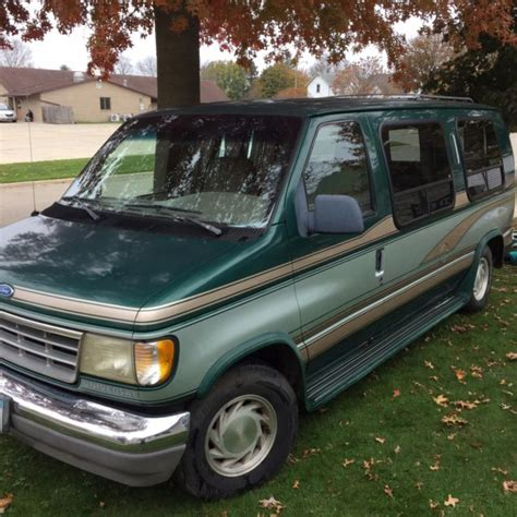 how to sell used cars 1993 ford econoline e150 instrument cluster 1993 ford e150 conversion van green tan silver accent one owner