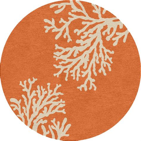 orange circle rug abstract pattern orange indoor outdoor rug gd01 8 rd style outdoor rugs