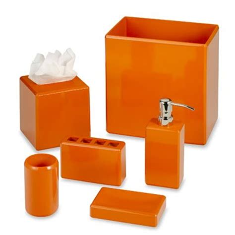 Bathroom Accessories Orange Gold Notes Color Notes Orange Crush