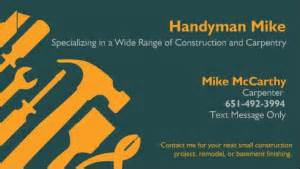 handyman business cards templates free handyman business cards