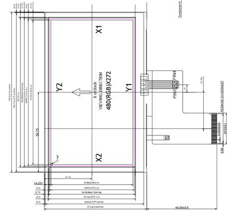 entrada rgb 4 3 polegada lcd 480x272 m 243 dulo de entrada rgb tela de