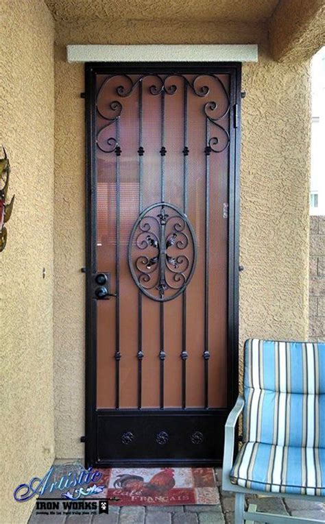 Decorative Wrought Iron Doors - decorative wrought iron security door wrought iron