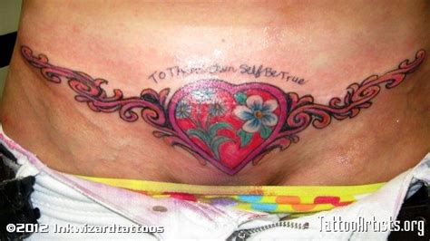 tattoos designs to cover tummy tuck scar image detail for tummy tuck scar cover artists