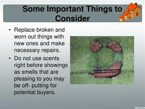 necessary things for house ppt home selling tips how to stage your home for a fast sale powerpoint presentation id