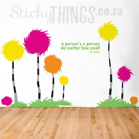 dr seuss wall decal truffula trees by stickythings co za