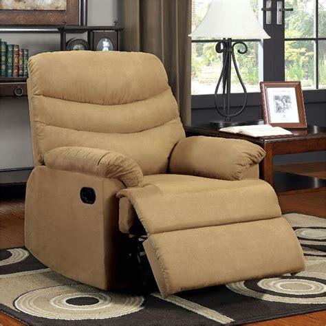 plush recliner chair pleasant valley mocha recliner chair with plush cushions