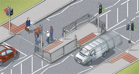 at the crossing for pedestrians 1 to 35 the highway code