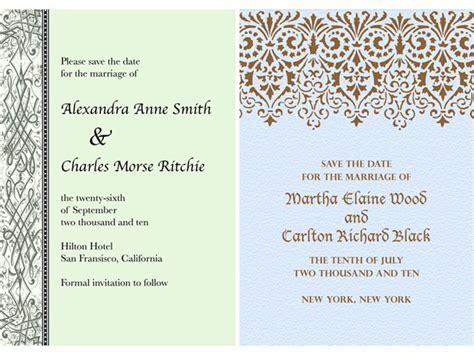 Classic patterned paperless wedding invitations