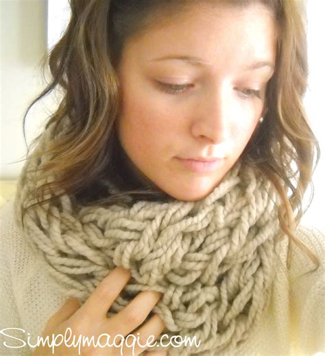 arm knit arm knitting tutorial how to simplymaggie com