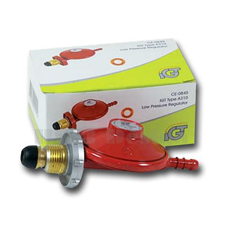 Caravan Awnings Outlet Propane Gas Regulator With Hand Wheel Big White Box