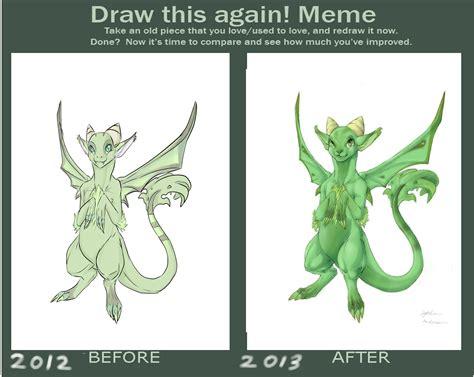draw   meme garden dragon  dragongirl