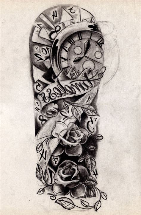black and white sleeve tattoo designs images for gt half sleeve black and white