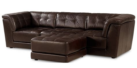 stacey leather sectional stacey leather 4 piece modular sectional sofa from macy s