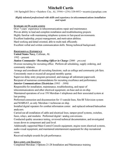 military resume templates resume and cover letter