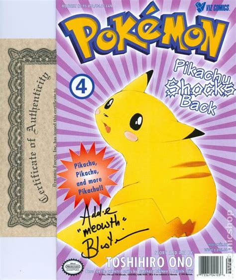 Pikachu Back part 2 pikachu shocks back df signed comic books