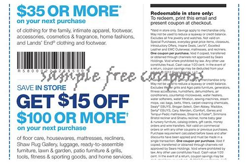 sears appliance coupons in store