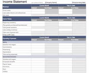 Yearly Income Statement Template by 5 Free Income Statement Exles And Templates
