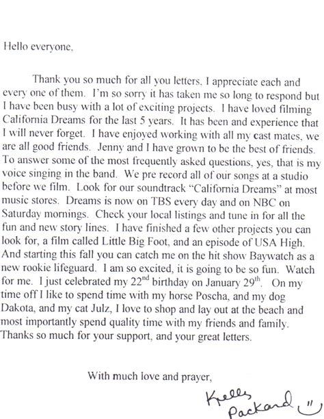 Pariss Letter To Fans by Fan Letters