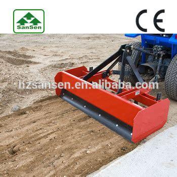3 point rear box scraper for tractors with ce,tractor land