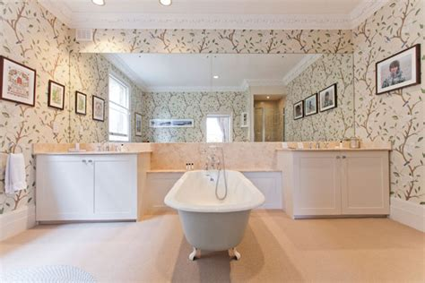 Bathroom Wallpaper Ideas Uk Floral Wallpaper Bathroom Ideas Tiles Furniture Accessories Houseandgarden Co Uk