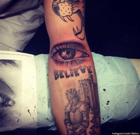 justin bieber s new tattoo is eye popping photo