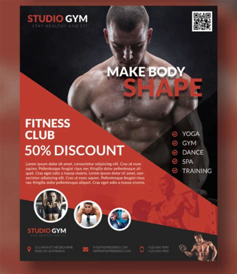 templates bodybuilder for photoshop download 10 free gym bodybuilding flyer poster templates ginva