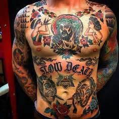 old school tattoo full body full chest tattoo traditional tattooed dude pinterest