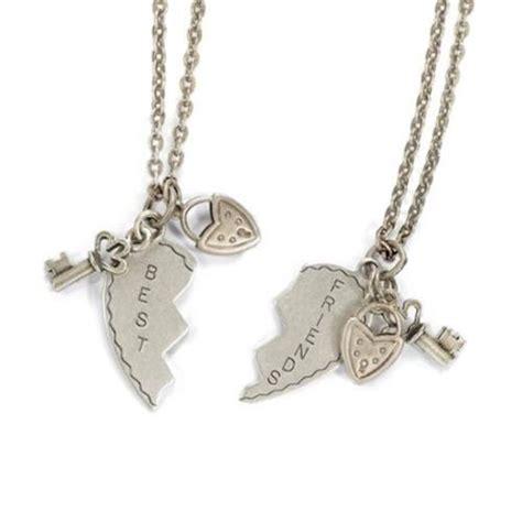 sweet best friends puzzle charm necklace set
