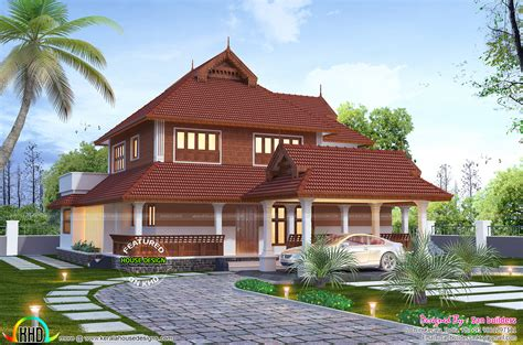 traditional home plan with 2880 square feet and 4 bedrooms from dream home source house plan traditional 2880 sq ft kerala home design kerala home