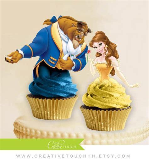 cupcake toppers princess and the beast disney princess birthday