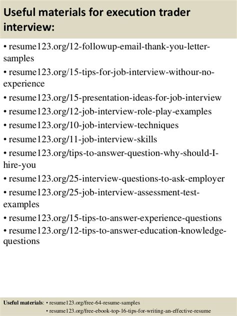 Execution Trader Sle Resume by Top 8 Execution Trader Resume Sles