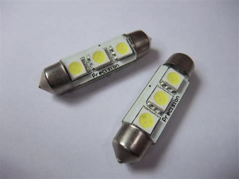 canbus 39mm 3 smd 5050 white 12v led car auto light bulbs