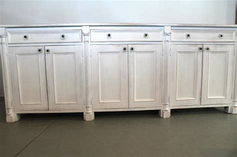 white sideboard made from reclaimed wood ecustomfinishes