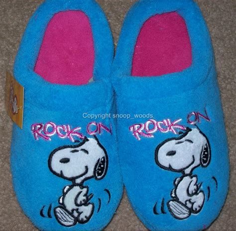 snoopy slippers for adults snoopy woodstock fuzzy fleece slippers slip ons ebay
