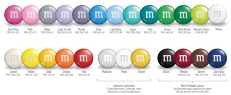 m and m colors custom printed m m s available in 25 colors and custom