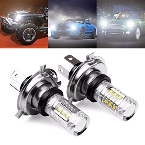 Led H4 Mobil coolbiz 2 x 80w white h4 9003 hb2 led fog light bulb 1500lm high low beam car headlight car