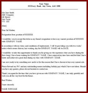 Formal Resignation Letter With Notice Period by Cover Letter Exles Jobstreet Cover Letter Templates